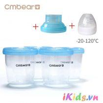 Cốc trữ sữa đa năng Cmbear (hộp 4 cốc)