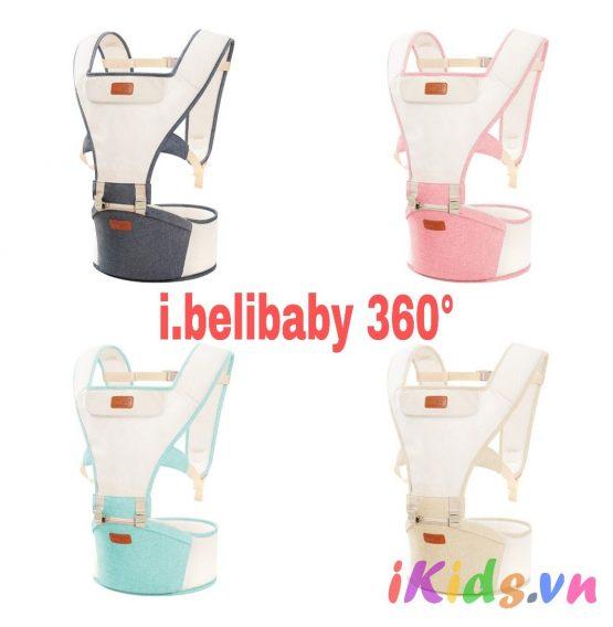 Địu ngồi I.BeliBaby 360 siêu thoáng mát mẫu 2018 (l.belibaby)