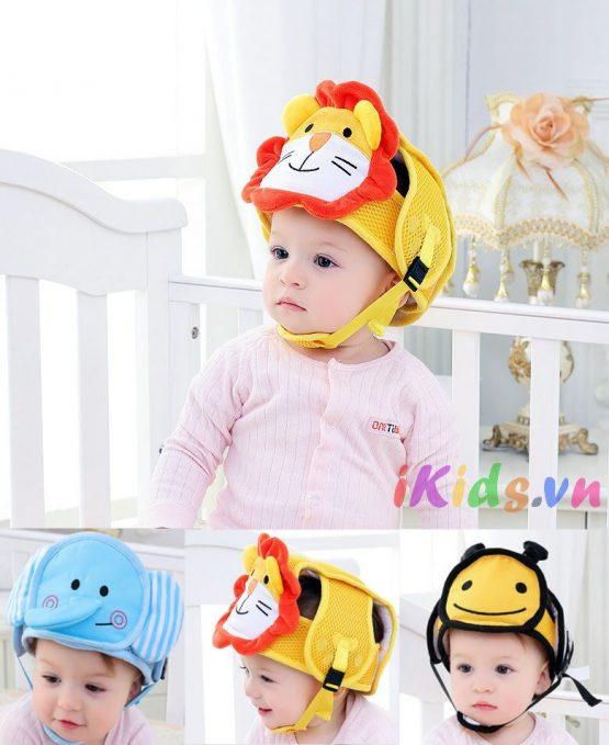 Mũ bảo vệ đầu JJOVCE cho bé tập đi