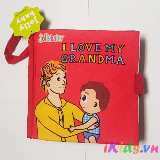 Sách vải Jolly baby – Chủ đề I love my grandma
