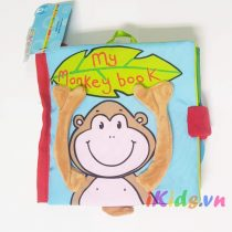 Sách vải Jolly Baby – Chủ đề My Monkey book