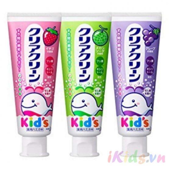 Kem đánh răng Kid's Kao 70g cho bé – nội địa Nhật Bản