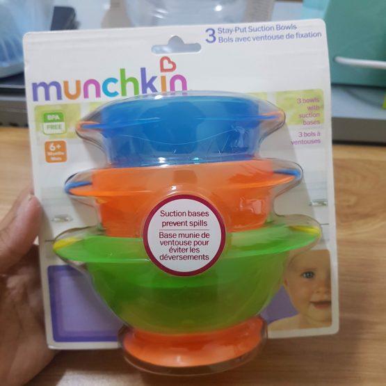 Bát ăn dặm Munchkin có tay cầm
