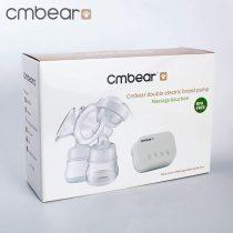Máy hút sữa đôi Cmbear có chức năng massage, bản rút gọn, tặng 1 núm ty cho bé